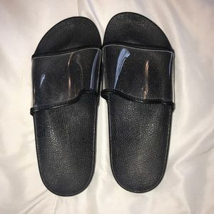 Black and clear slides